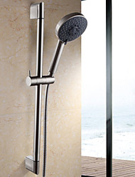 Five Function Massaging Hand Shower Head with Adjustable Slide Bar Brushed Nickel
