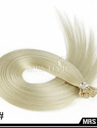 """20 """"60 # weiße blonde Farbe kalte Fusion Stick i tip remy Menschenhaarverlängerungen Großhandel 0.8g 100pcs"""