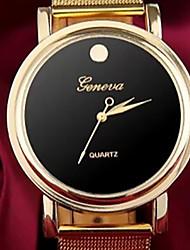 nieuwe vrouwelijke modellen gouden riem Geneva Watch band quartz dameshorloge
