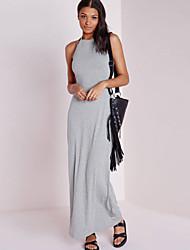 Women's Multi X-Strap Back Jersey Maxi Dress