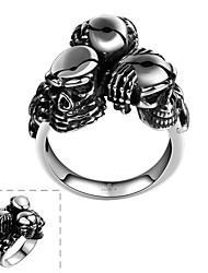 Кольца В форме черепа Others Уникальный дизайн Мода Halloween Повседневные Спорт Бижутерия Нержавеющая сталь Мужчины Кольцо 1шт,8 9 11
