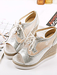 Women's Shoes Wedge Heel Wedges Sandals Casual White/Silver