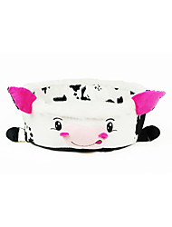 Cartoon Cow Style Beds with Cushion for Small Puppy Cats