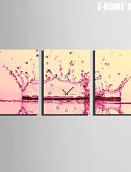 E-HOME® Splash Clock in Canvas 3pcs