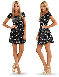 Women's Round Dresses , Others Sexy/Beach/Casual/Cute/Party Short Sleeve Cathy