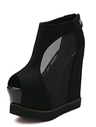 Women's Shoes   Wedge Heel Wedges/Peep Toe Sandals Casual Black