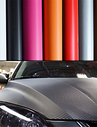 """LORCOO™ 3D Carbon Fiber Vinyl Film Wrap 12""""x60"""" Sheet(Free Gift Edge Squeegee and Knife)"""