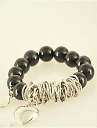 Cute/Casual Gemstone & Crystal Beaded Bracelet