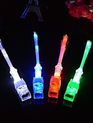 10-pack multicolor llevó fibra óptica dedo haz de luz luces de timbre luminoso favor de partido