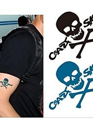 10 Pcs Crazy Skull Pattern Temp Tattoo Stickers
