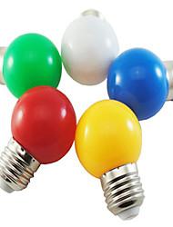 1w e27 5xsmd2835 lampe à bulles à bulle de couleur de 350lm prises ampoules (220v)