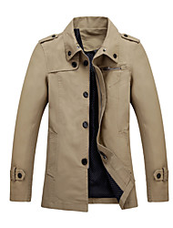 2015 Brand New Men Jackets Asian Size Pure Light Khaki Color Casual Fashion Men Clothing 108-3 SP001592
