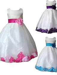 Baby Girl's Pink/Blue /Purple Floral Bridesmaid Party Communion Tulle Dress Evening Party Dresses for 3~9 years