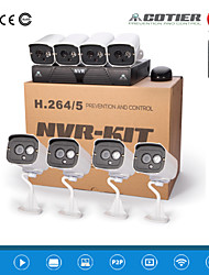 cotier®8ch 1U NVR kits de 720p / 960p / 1080p / plug and play / IR / ONVIF caméra ip n8b7m / kit