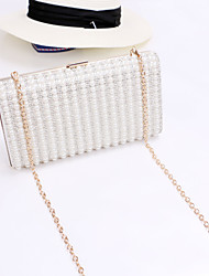Women 's Luxurious Pearls Design Clutch/Evening Bag - Gold/Silver