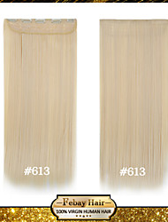 alta temperatura de resistencia rubia lejía 24 pulgadas (# 613) Clip larga recta 5 extensión peluca 16 colores disponibles