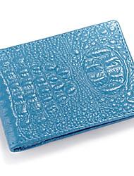cartão ocasional do couro unisex 's&ID titular - azul / rosa / marrom / vermelho / preto