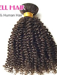 """1 PC / Los 12 """"-26"""" """"indian verworrene lockige Schüssen natürliche schwarze 1b # menschliches Haar lockig Bündel verwirren frei"""