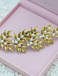 Vintage Alloy Leaves Wedding/Party Bridal Headpieces/Headbands Imitation Pearls