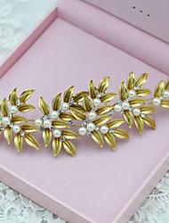 Vintage Alloy Leaves Wedding/Party Bridal Headpieces/Headbands Imitation Pearls