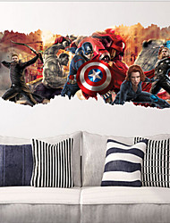 ZooYoo ®1457 Popular Super Hero Wall Decal GiftAvengers Movie Character Stickers