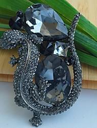 Винтаж/Для вечеринки - Брошь (Сплав/Камни и кристаллы)
