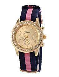 Mulheres Relógio de Moda Quartzo Tecido Banda Brilhante Cores Múltiplas # 1 # 2 # 3 # 4 # 5