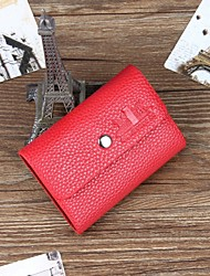 Men PU Casual Card & ID Holder - Brown / Red / Black