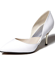 Women's Shoes Leather Stiletto Heel Heels/Pointed Toe Pumps/Heels Wedding/Party & Evening/Dress Yellow/Red/White