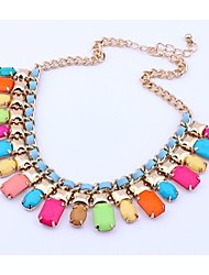 Candy color collarbone chain