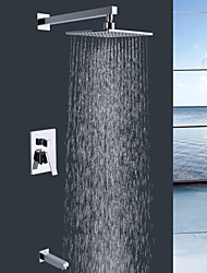 Shengbaier Wall Mount Contemporary Chrome Rain Shower Faucet