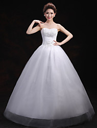 Ball Gown Wedding Dress Floor-length Sweetheart Lace / Tulle with