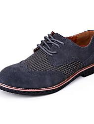 Oxfords ( Cuero , Marrón/Gris/Amarillo Tacón plano para Zapatos de hombre