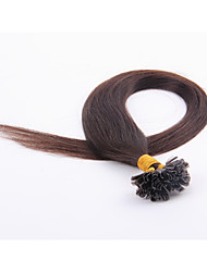 100pcs/lot 18Inch  U Tip Brazilian Remy Human Hair Extensions Straight Tip Hair Extensions