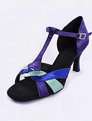 Fashion Multi-color Satin Upper Women's Latin Dance Shoes