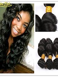 3pcs / lot a la venta el envío libre 8-32inch 3pcs paquete suelta la trama del pelo de la onda en la acción pelo humano del 100% cabello