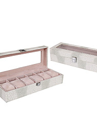 WEST BIKING® High-Grade PU Crocodile watch Box Six Watches Fashion Show Box