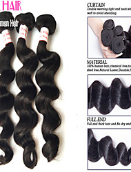 Cheap Peruviann Virgin Hair Loose Wave Human Hair 3 Bundles 8'-30' Inches Natural Black Hair Extensions