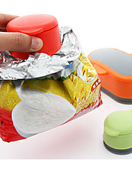 Set of 3 Food Storage Snack Seal Bag Magic Cap Food Sealing Clips with Cover