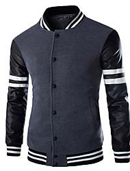 Men's Coats & Jackets , Cotton Long Sleeve Casual Winter/Fall Wshgyy