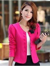 Women's Blazer , Microfiber Casual Jacket