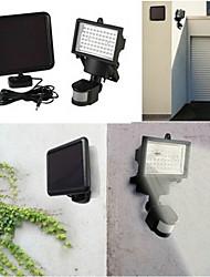 Luz solar de seguridad con alimentación mediante 60 LEDs de alta luminosidad