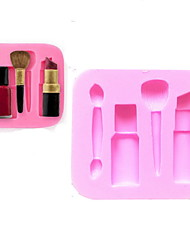 Bakeware Silicone Makeup Pen Baking Molds for Fondant Candy Chocolate Cake (Random Colors)
