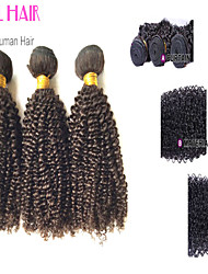 "4Pcs Lot 12""-30""Indian Virgin Hair Kinky Curly Natural Black Curly Human Weave Bundles Shed & Tangle Free"