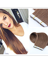 "18""-30"" 40pcs/pack Brazilian Human PU Tape Glue Skin Weft Hair Extensions #1b,#2,#4,#6,#27,#613"