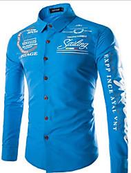 Vito Men's Shirt Collar Casual Shirts , Cotton Blend Long Sleeve Casual
