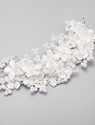 Women's Flower Girl's Crystal Alloy Imitation Pearl Headpiece-Wedding Special Occasion Flowers 1 Piece