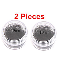 2pcs European Black False Eyelash Individual Lash Fake EyeLash HandMade Makeup Planting Grafting Eyelash Extensions