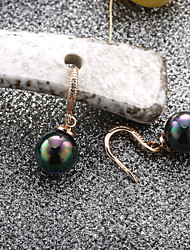 Sjeweler Girls Gold Plating Pearl Zircon Pendant Earrings