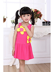 Girl's Summer Cartoon Thin Clothing Flower Girl Dress Very Good Quality 90 100 110 120 130